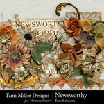 Newsworthy Embellishment Pack-$4.99 (Tami Miller)