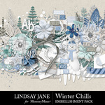 Winter Chills Embellishment Pack-$3.49 (Lindsay Jane)