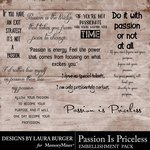 Passion Is Priceless WordArt Pack-$4.99 (Laura Burger)