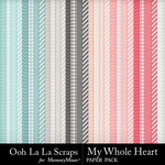 My Whole Heart Pattern Papers-$1.99 (Ooh La La Scraps)