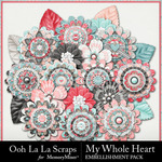 My Whole Heart Layered Flowers-$1.99 (Ooh La La Scraps)
