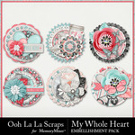 My Whole Heart Cluster Seals Pack-$1.99 (Ooh La La Scraps)