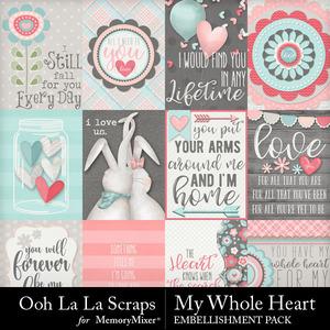 My whole heart pocket scrap cards medium