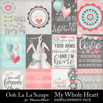 My Whole Heart Pocket Scrap Cards-$1.99 (Ooh La La Scraps)