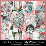 My Whole Heart Border Pack-$1.99 (Ooh La La Scraps)