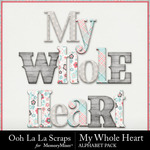 My Whole Heart Alphabet Pack-$3.49 (Ooh La La Scraps)