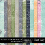 Saying it That Way Newsprint Paper-$4.99 (Laura Burger)