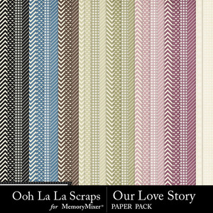 Our love story pattern papers medium