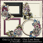 Our Love Story Cluster Frames Pack-$1.99 (Ooh La La Scraps)