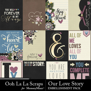 Our love story pocket scrap cards medium