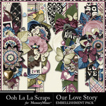 Our Love Story Page Borders Pack-$1.99 (Ooh La La Scraps)