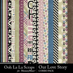 Our love story kit papers small