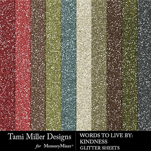 Kindness glitter sheets medium