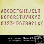Retro Christmas Red Alphabet Pack-$1.00 (Traci Murphy)