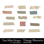Vintage Memories TM Washi Tape-$3.49 (Tami Miller)