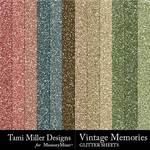 Vintage Memories TM Glitter Paper Pack-$3.49 (Tami Miller)