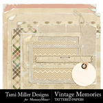 Vintage Memories TM Tattered Pieces-$3.49 (Tami Miller)