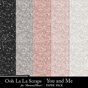 You and me glitter papers medium