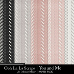 You and me pattern papers small