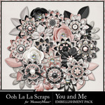 You and Me OLL Layered Flowers Pack-$2.49 (Ooh La La Scraps)