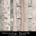 You and Me OLL Wood Paper Pack-$2.49 (Ooh La La Scraps)
