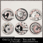 You and Me OLL Cluster Seals Pack-$2.49 (Ooh La La Scraps)
