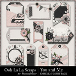 You and Me OLL Tags Pack-$2.49 (Ooh La La Scraps)