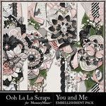 You and Me OLL Page Borders Pack-$2.49 (Ooh La La Scraps)