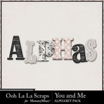 You and Me OLL Alphabet Pack-$3.49 (Ooh La La Scraps)