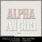 You and me kit alphabets small