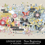 New Beginning LJ Embellishment Pack-$3.49 (Lindsay Jane)