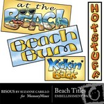 Beach Titles Embellishment Pack-$1.49 (Bisous By Suzanne Carillo)