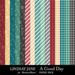 A Good Day LJ Pattern Paper Pack-$2.49 (Lindsay Jane)