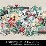 A Good Day LJ Embellishment Pack-$3.49 (Lindsay Jane)