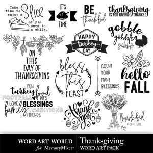 Thanksgiving word art medium