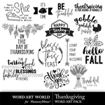 Thanksgiving word art small