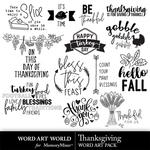Thanksgiving WAW WordArt Pack-$3.99 (Word Art World)