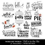 Fall is in the air word art small