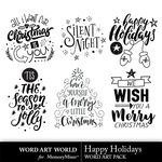 Happy Holidays WAW WordArt Pack-$3.99 (Word Art World)