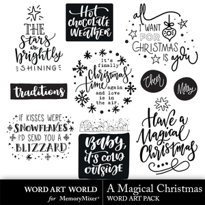 A magical christmas word art medium