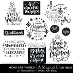A magical christmas word art small