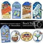 Beach Tags Embellishment Pack-$2.49 (Bisous By Suzanne Carillo)