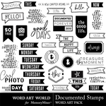Documented stamps word art small