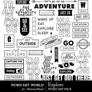 Explore word art medium