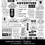 Explore WordArt Pack-$3.99 (Word Art World)