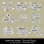 Journal Strips Word Art Pack-$3.99 (Word Art World)