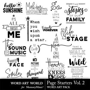 Page starters vol 2 word art medium