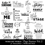 Page Starters Vol 2 WordArt Pack-$3.99 (Word Art World)