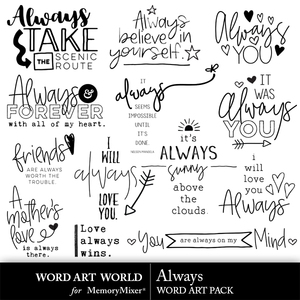 Always word art medium