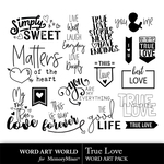 True love word art small
